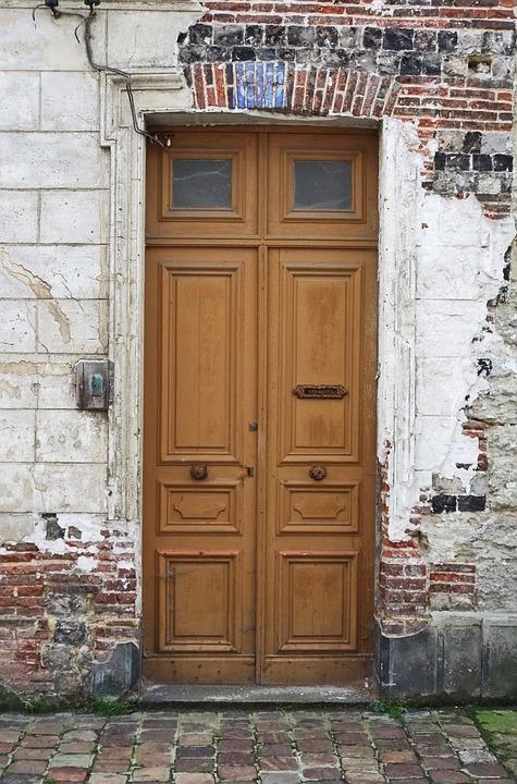 Door, House, Architecture, Wood, Facade, Stucco