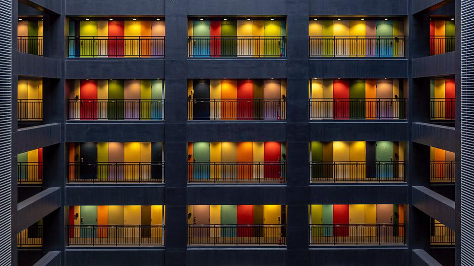 Apartments, Doors, Colors, Tokyo, Japan, House