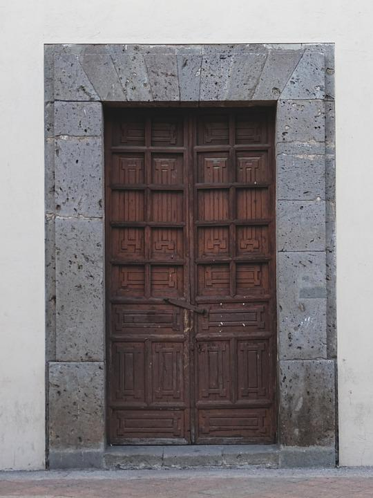 Door, Wood, Stone, Old, House Entrance, Old Door, Input