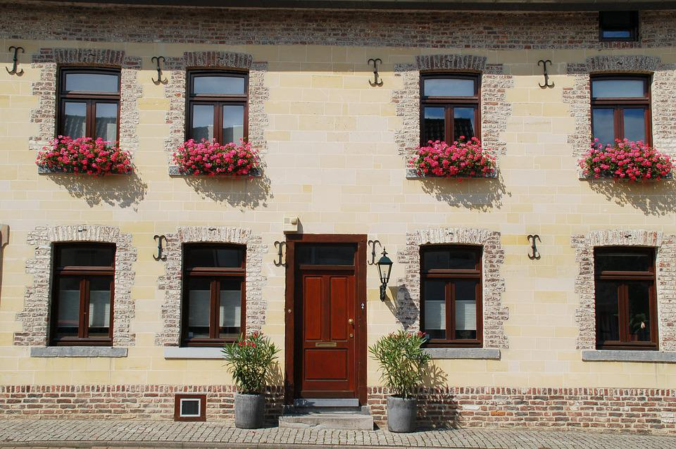 Architecture, House, Window, Facade, Flower Boxes