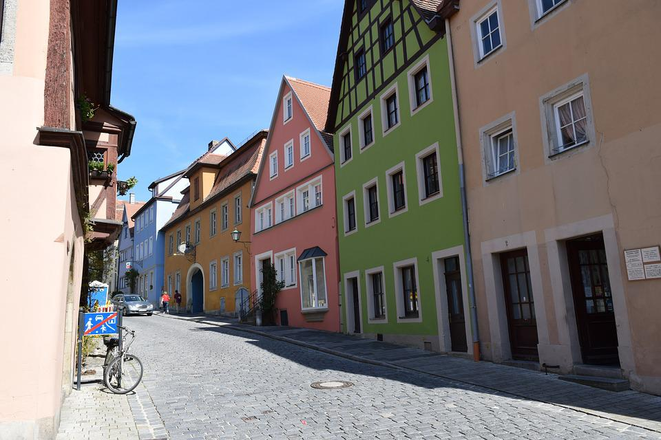 House, Color, Germany, Facades