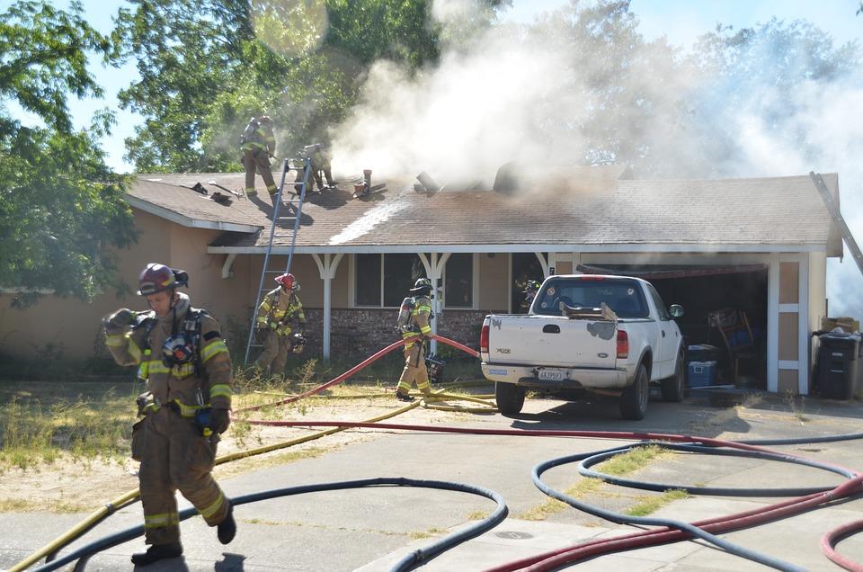 House Fire, Fireman, Home
