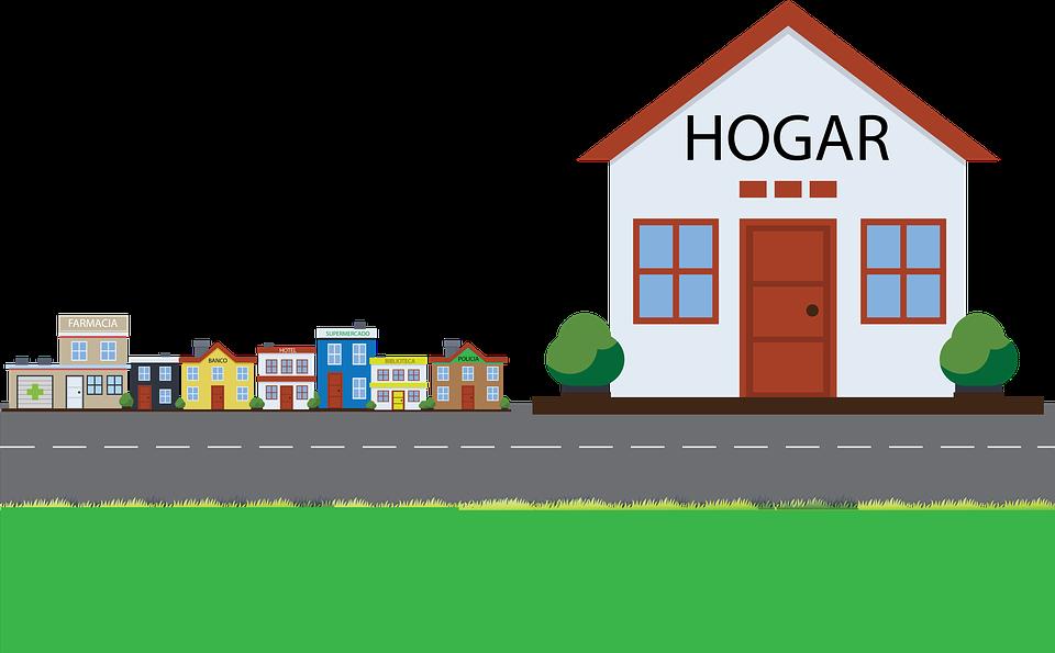 Illustration, House, Home