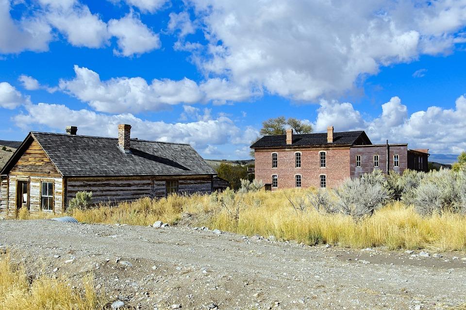House And Hotel, Bannack, Old, House, Beaverhead