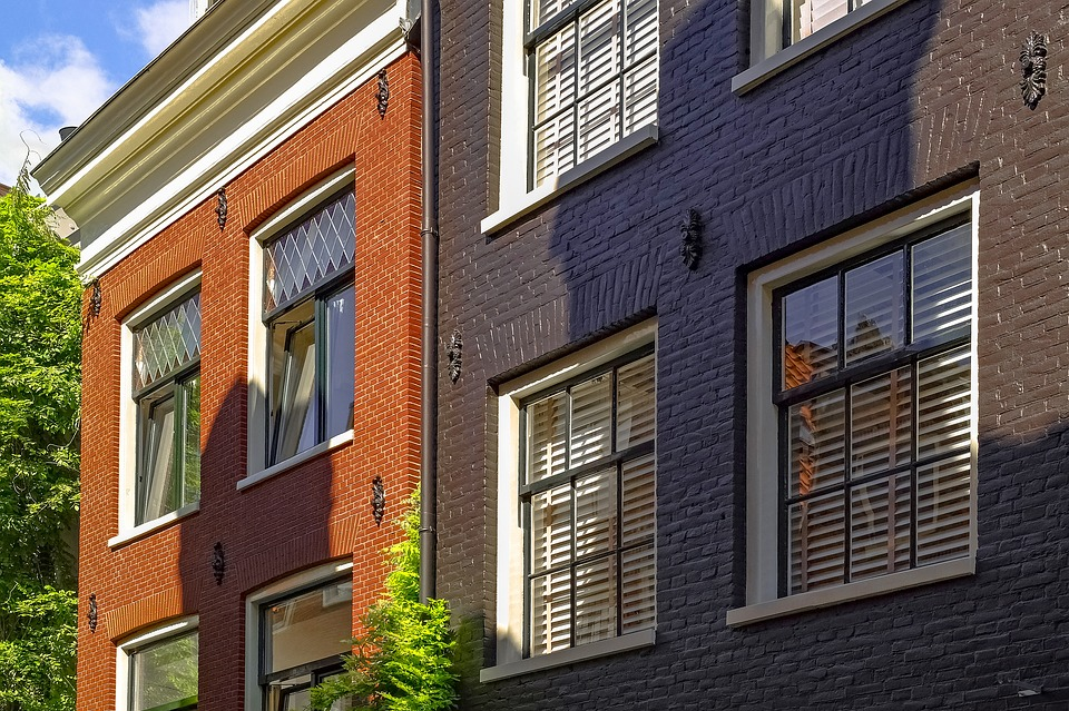Home House Facade Brick Painted Brown Ivy