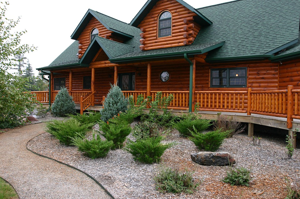 Free Photo House Log Cabin Home Cabin Landscaping Log Home Max Pixel