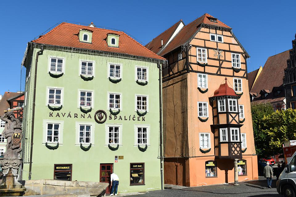 House, Middle Ages, Square, Cheb, Architecture, Old