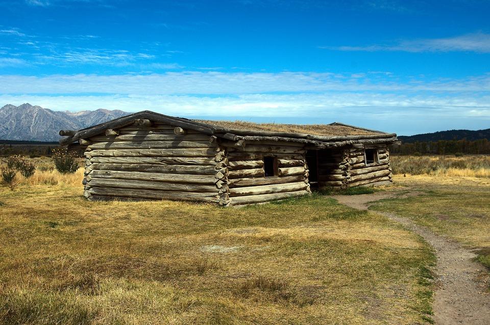 Cunningham Cabin, Log, Cabin, House, Mountains