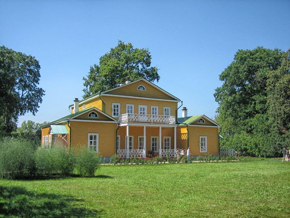 Russia, Landscape, Scenic, Museum, House, Architecture