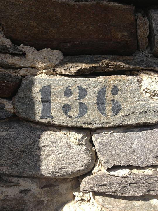 Number, Wall, House Number, 136