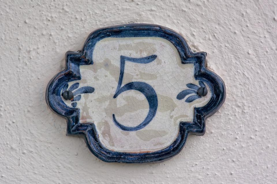 Number, Five, Digit, Mathematics, 5, Host, House Number