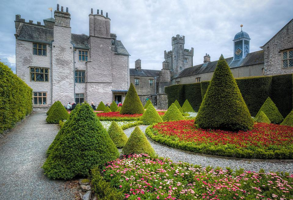 Garden, Architecture, Palace, House