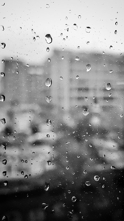 Rain, Buildings, House, Residential, City, Architecture