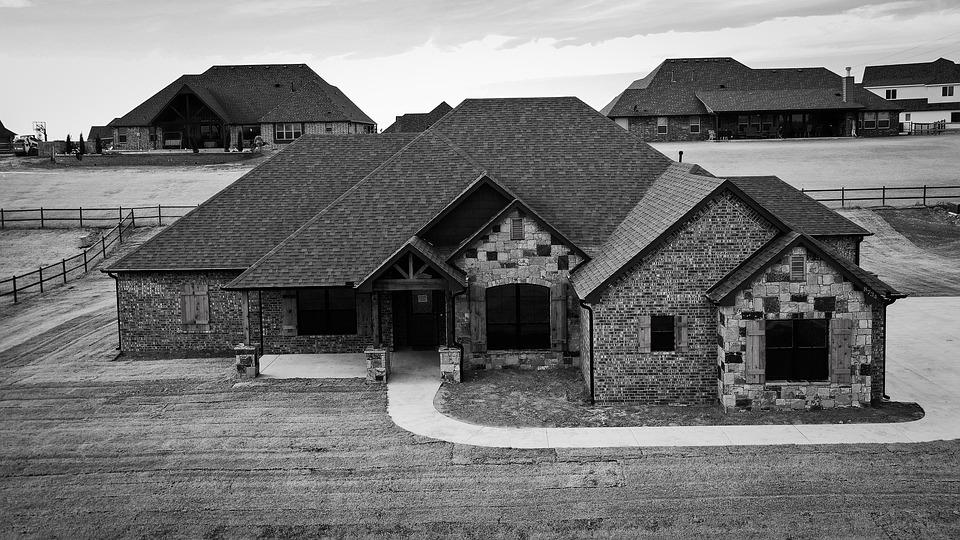 Black And White, Home, Realtor, House
