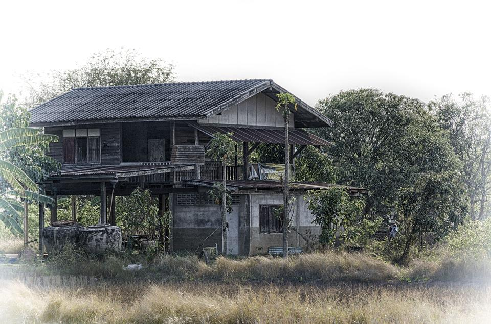 Thailand, Old, House, Ruin, Vintage, Abandoned, Ruins
