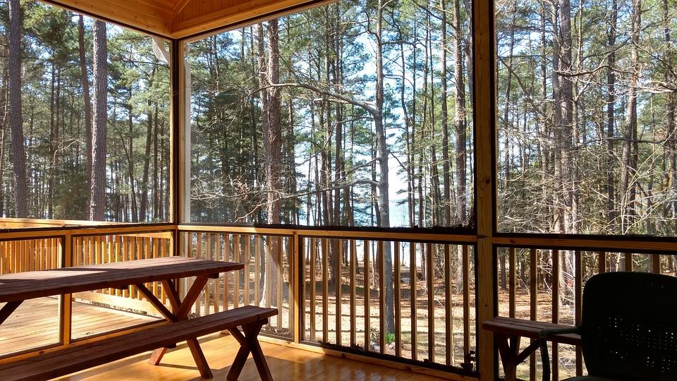 Porch, Lake, House, Home, Space, Picnic