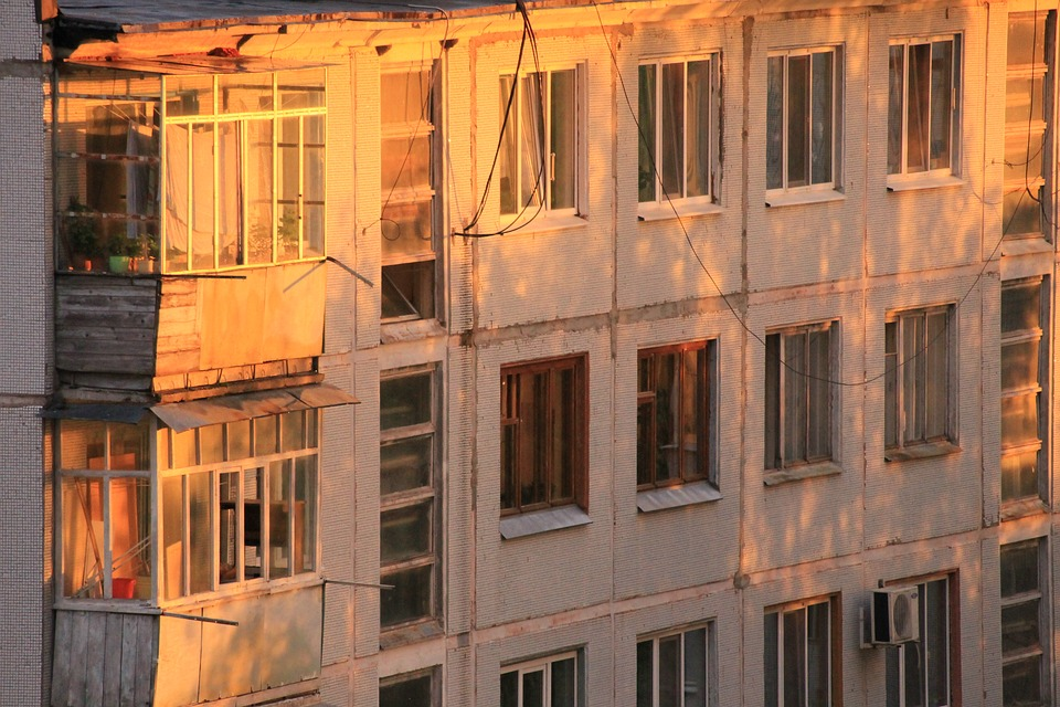 House, Window, Sunset, Building, City, Russia