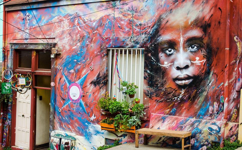House, Mural, Window, Graffiti, Painting, Wall