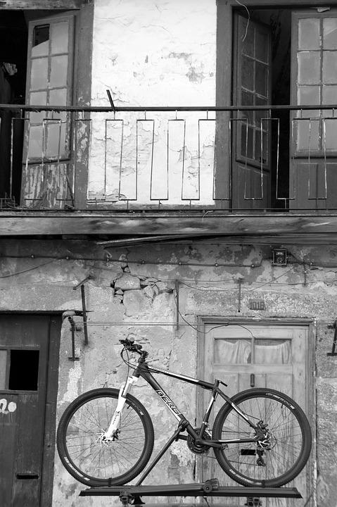 House, Bicycle, Old, Town, Balcony, Wheel, Bike, Doors