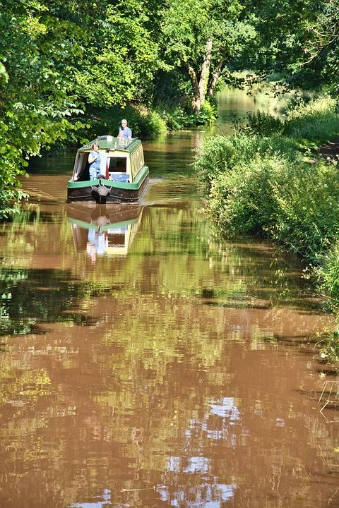 Canal, Narrowboat, Travel, Boat, Houseboat, Transport