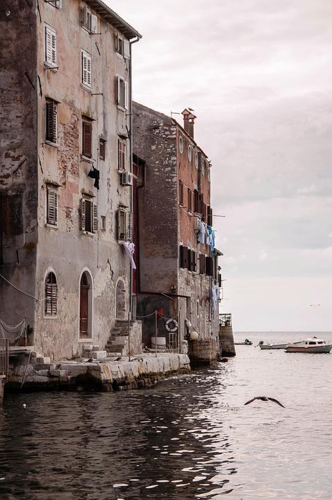 Sea, Houses, Summer, Maritime Village, Atmosphere