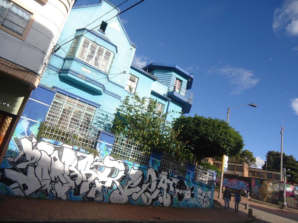 Bogota, House Blue, Blue, Houses