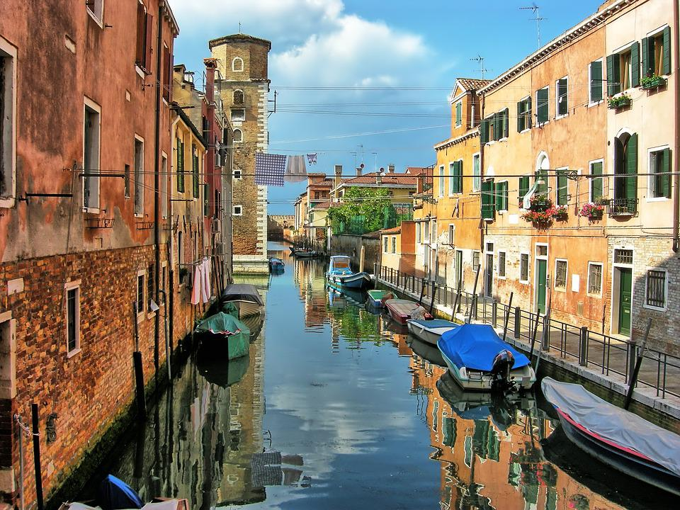 Venice, Channels, Italy, Boats, Houses, Water