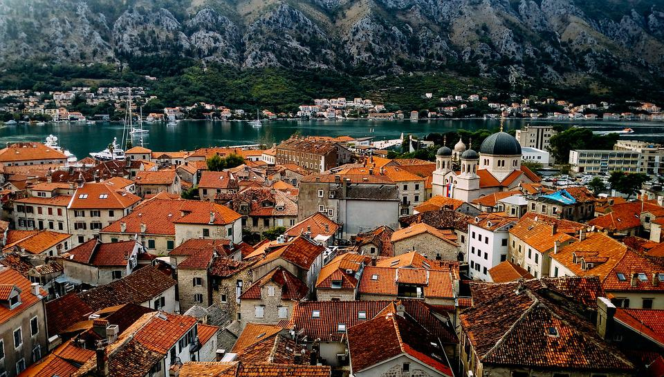 Buildings, Houses, Roofs, Town, Urban, Water