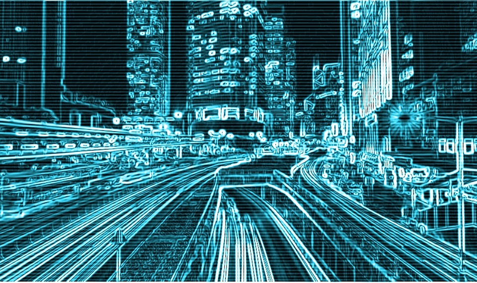 Computer, City, Hack, Network, Digital, Houses