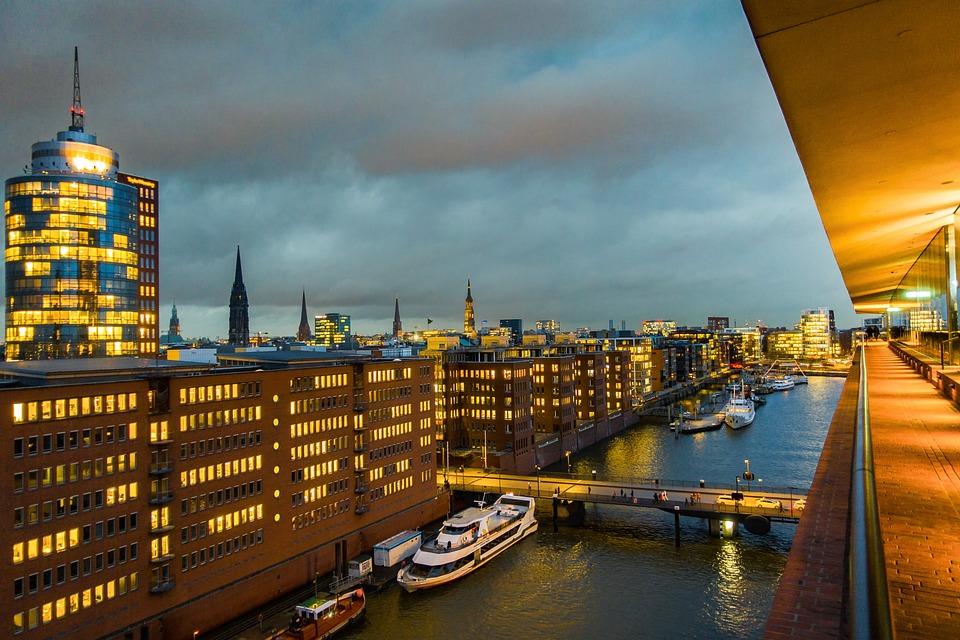 Hamburg, City, Ships, Houses, Elbe Philharmonic Hall