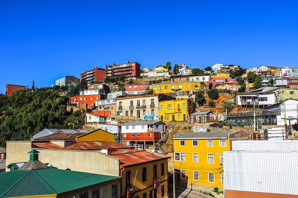Hill, Houses, Color, Port, City