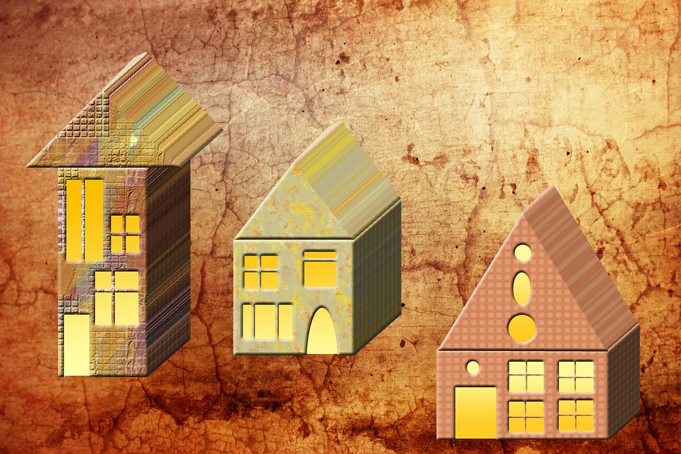 House, Houses, Graphic, Light, Background, Perspective
