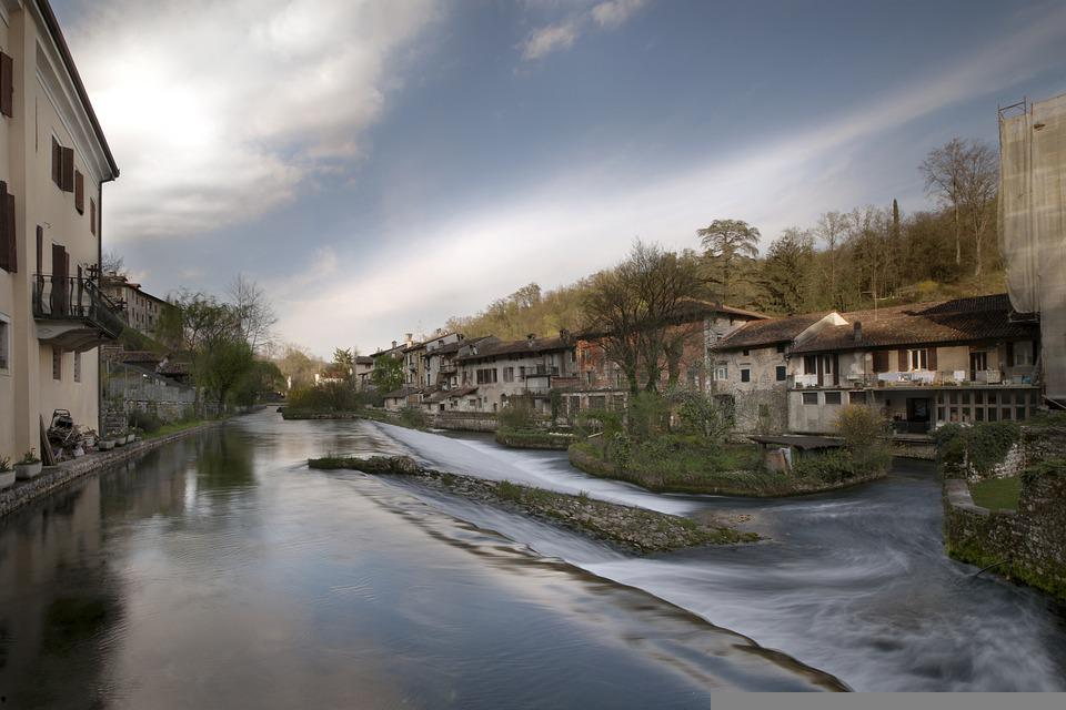 Houses, River, Residential, Residential Area