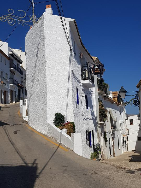 The White Village Of Altea, Houses, Spain