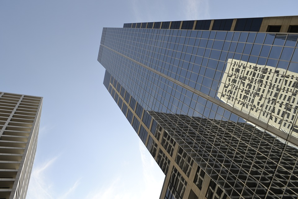 Houston, Texas, Office Buildings, Downtown, Perspective