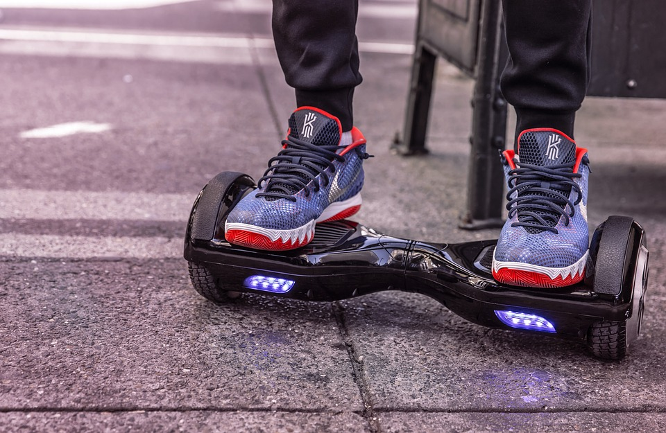 Hoverboard, E-board, Wheels, Exit, Nike, Shoes, Drive