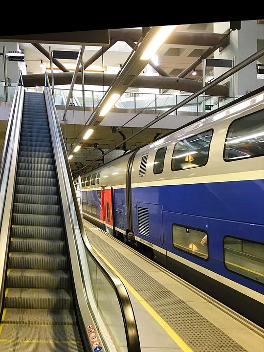 Train, Hst, High Speed, Platform, France