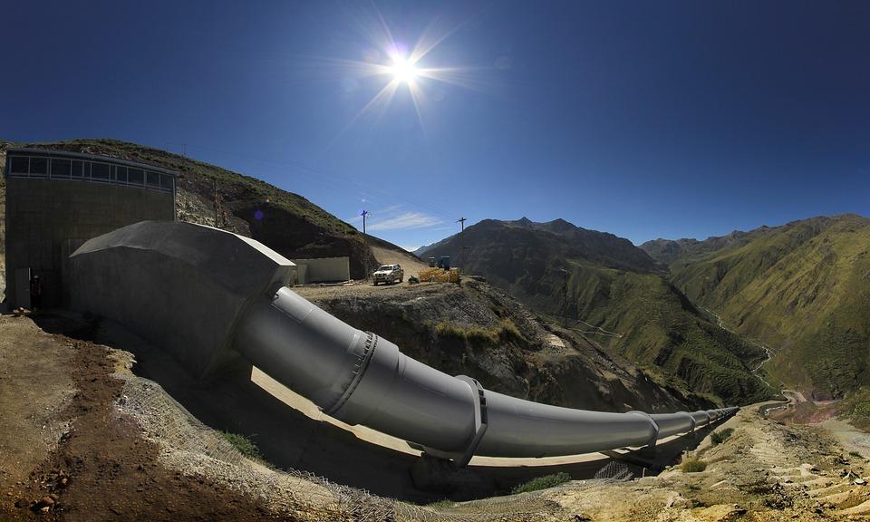 Pipe, Hydroelectric Power Station, Huanza, Peru