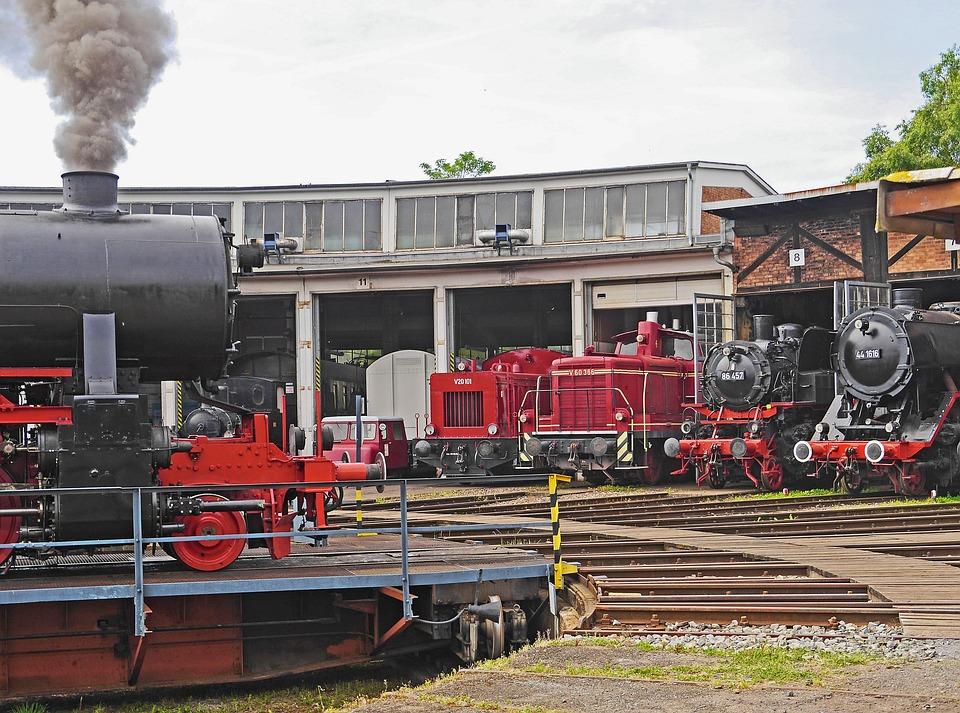 Steam Locomotive, Diesel Locomotive, Hub