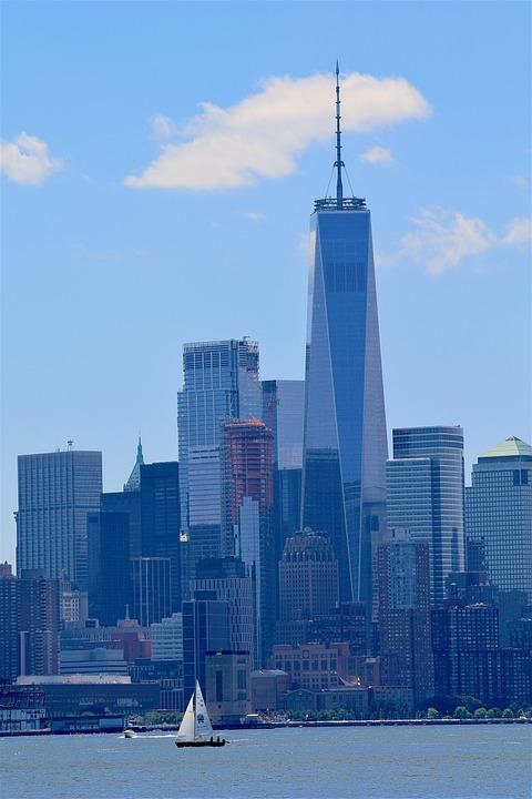 New York, Hudson River, Downtown, World Trade Center