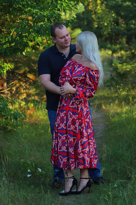 Young Couple, Love Story, The Courtship, Young, Hug