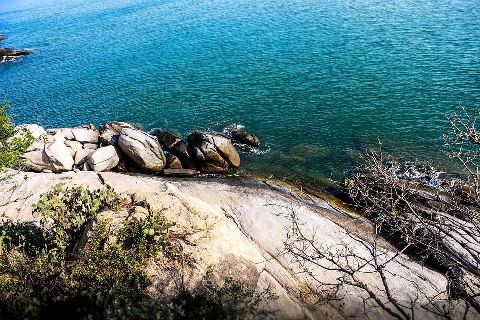 Sea, Rocks, Khaotakiab, Huhin, Khao, Nature