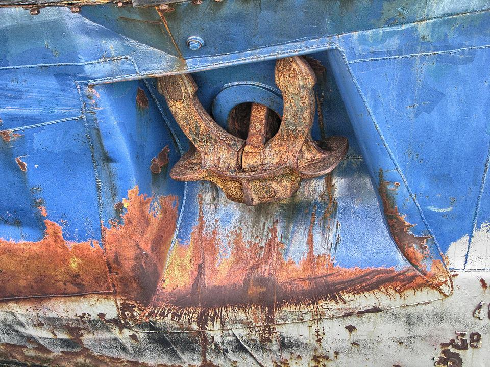 Anchor, Ship, The Ship, Boat, Hull, Naval Science, Rust
