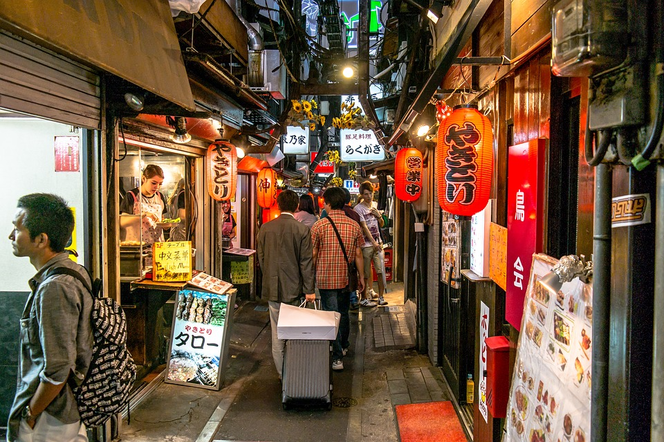 Tokyo, Asia, Eat, Alley, Business, Human, Travel