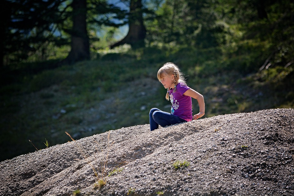 Person, Human, Child, Girl, Sand Hill, Nature, Out