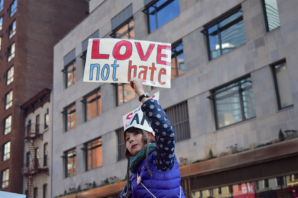 Women's March, Sign, Child, Political, Rally, Human