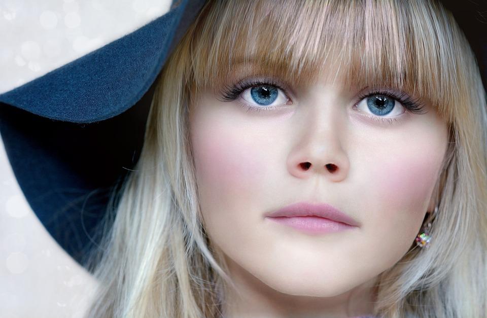 Person, Human, Female, Girl, Face, Eyes, Blue Eye, Hat