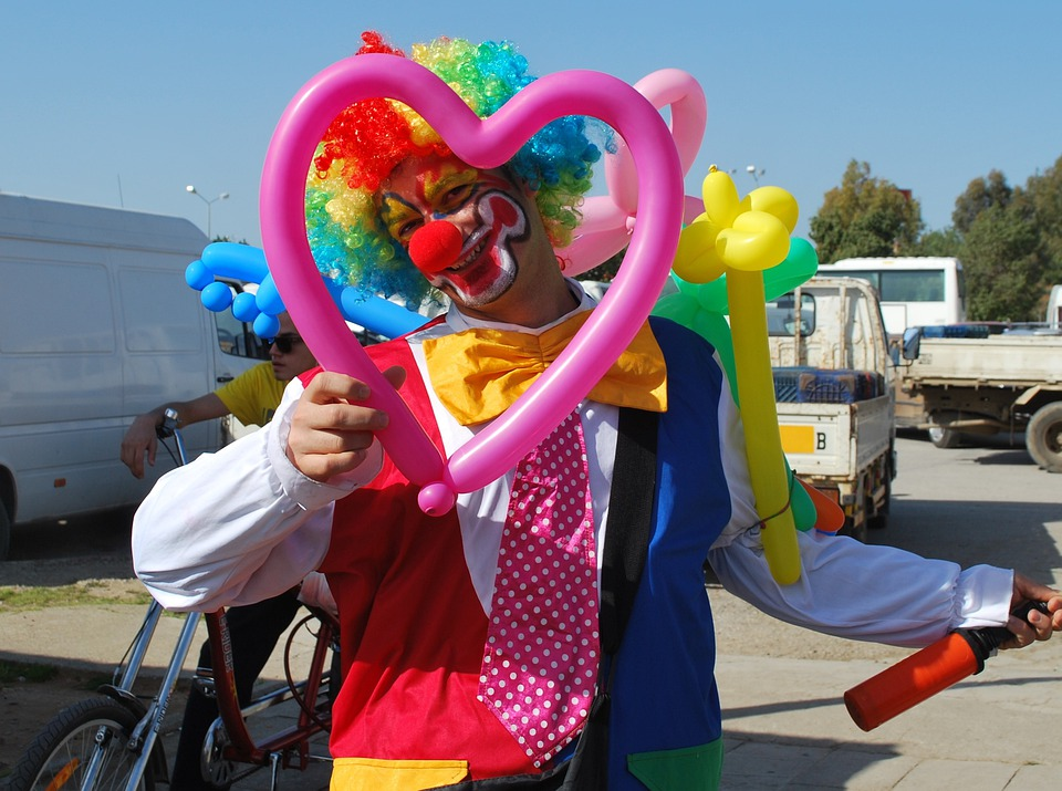 Clown, Funny, Smile, Human, Laugh, Face, Man, Heart