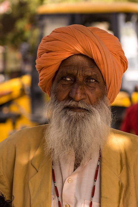 Indians, Portrait, Man, Human, Turban, Face, Faith