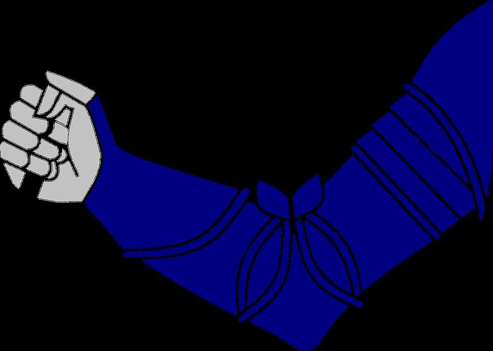 Human, Arm, Fist, Blue